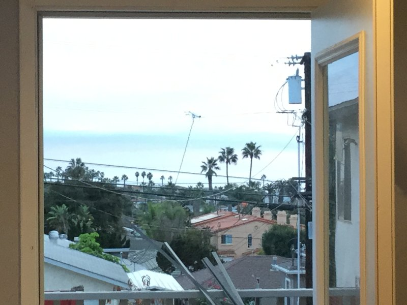 Daytime view of ocean from kitchen.