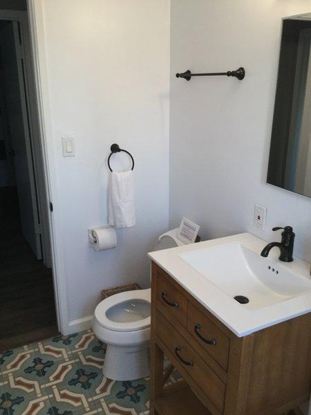 2nd Bathroom with bathtub/shower.