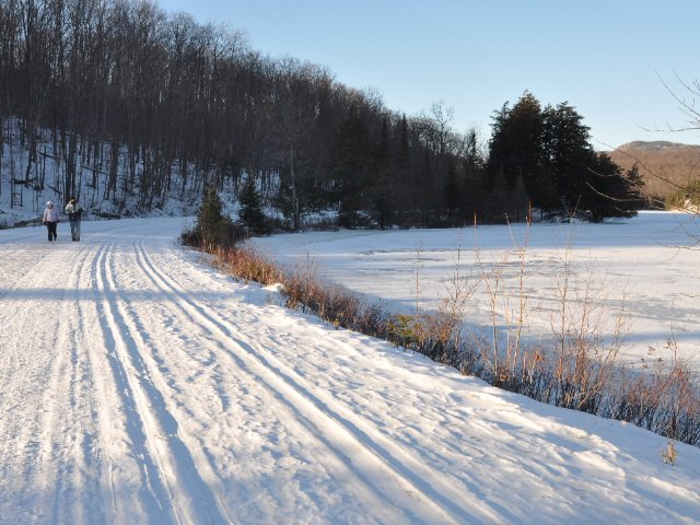 Cross country skiing - all around nearby lakes