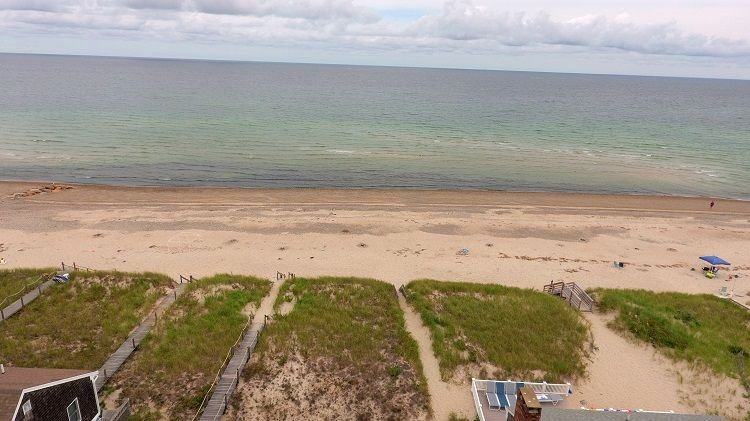 Aerial View of Private Beach