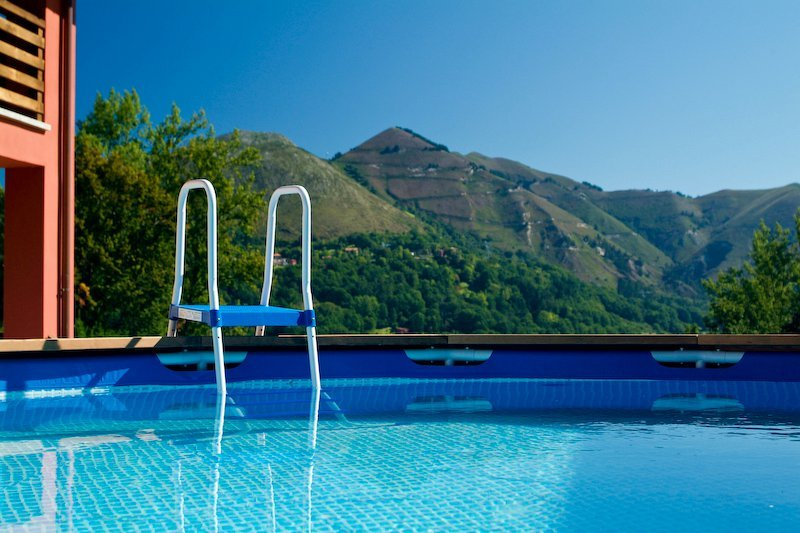 Pool overlooking the Picos