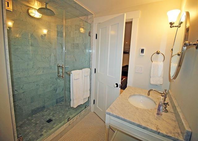 Lower level entertainment room bathroom