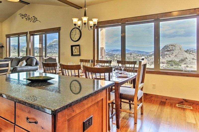 You'll love cooking while having these views in the background.