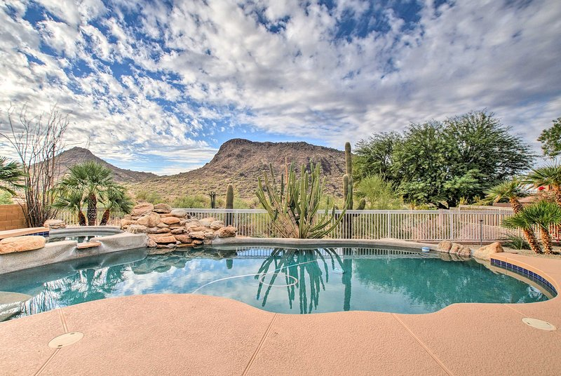 The spacious Scottsdale home has all the luxuries for optimal holiday relaxation.
