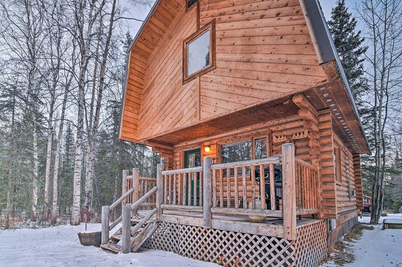 Expérience de vie de l'Alaska classique de cette location de vacances cabine Wasilla!