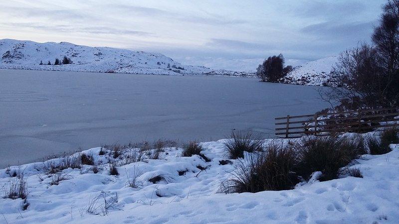 Loch Tarff, 4 miles up the road towards Whitebridge.  January 2018