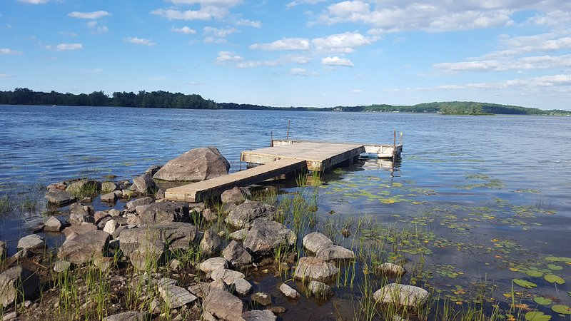 Shore fishing platform