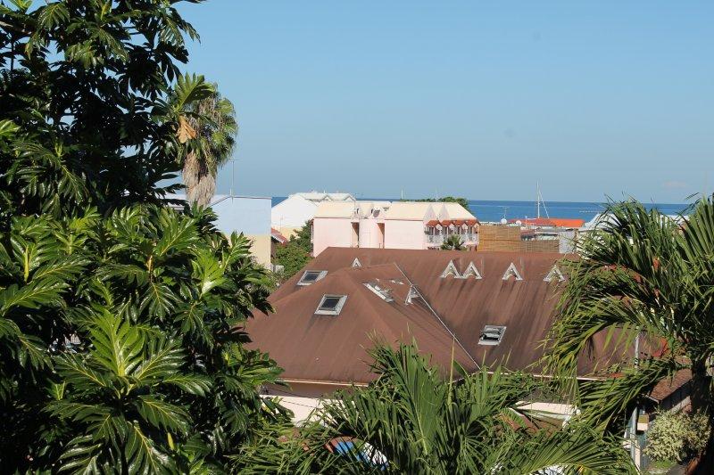 Vue de la mer du balcon d'une des 2 chambres