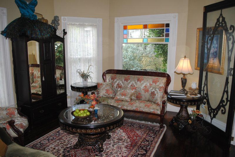 Front parlor of the Swann