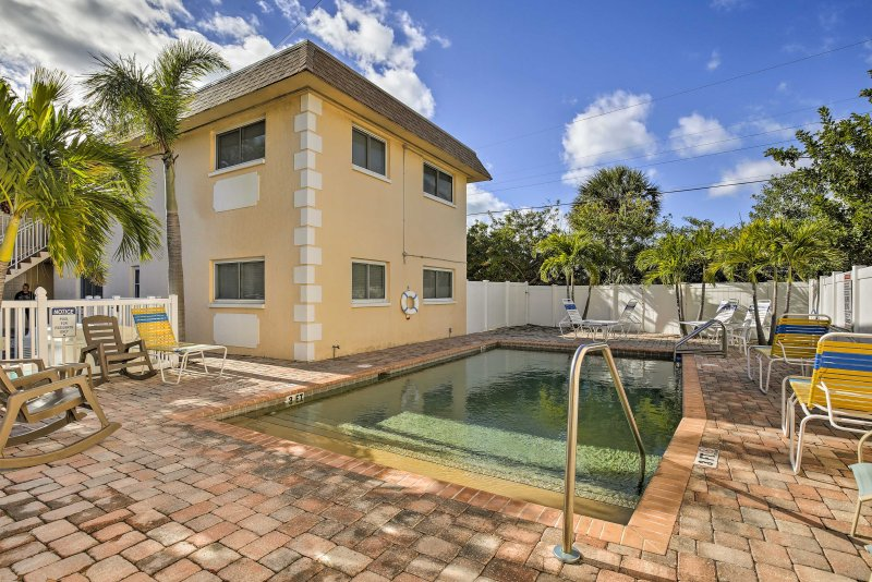 You'll also have access to this solar-heated community pool.