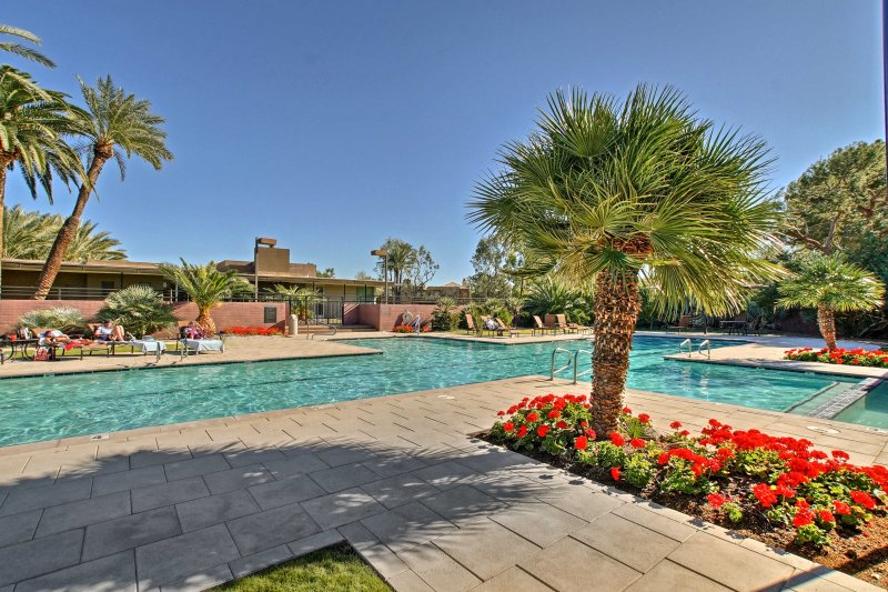 An exclusive desert oasis awaits at this Scottsdale vacation rental condo.