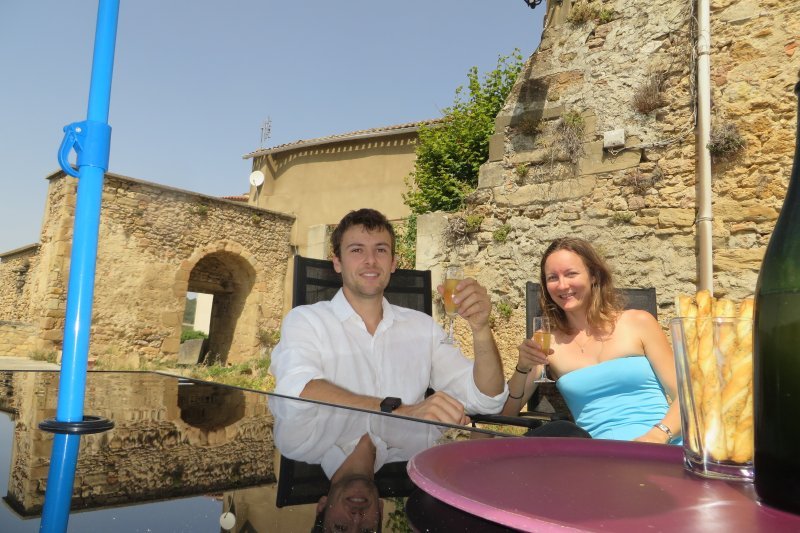 Melissa and François welcome you on their terrace