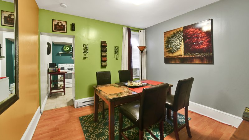 Dining area also very spacious and good for meals together, game night or one on one time