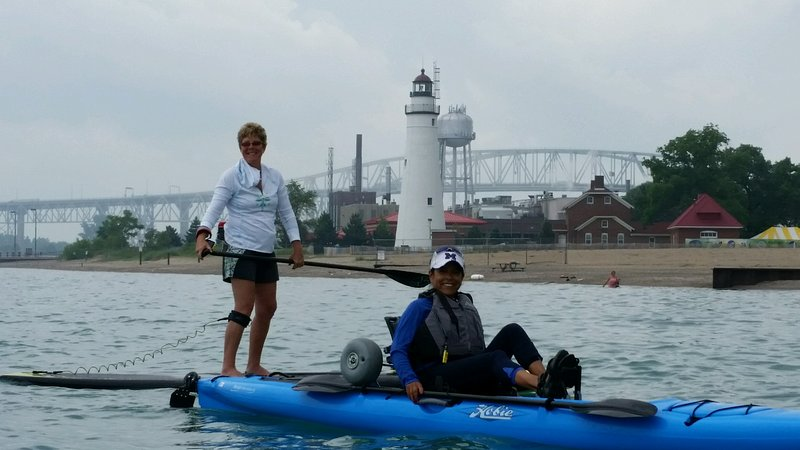 Paddle to the Blue Water Bridge and Fort Gratiot Lighthouse!