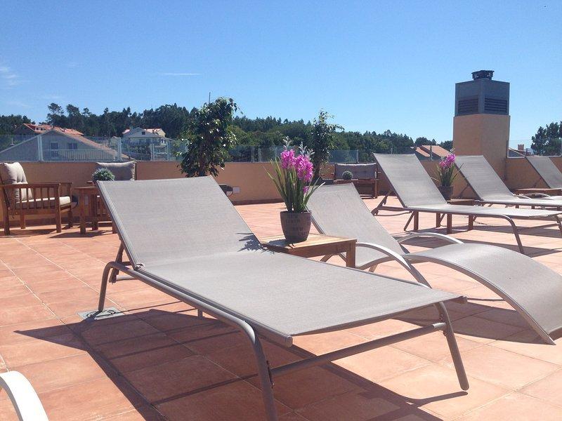 Aqualecer. 1 Dormitorio con vistas Islas Ons 02, vacation rental in Sanxenxo