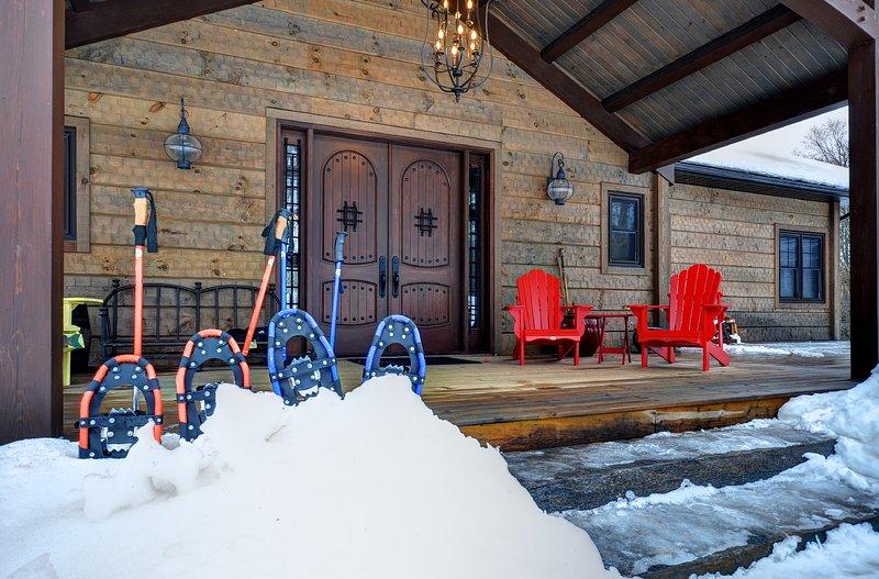 Trilhas snowshoe inverno