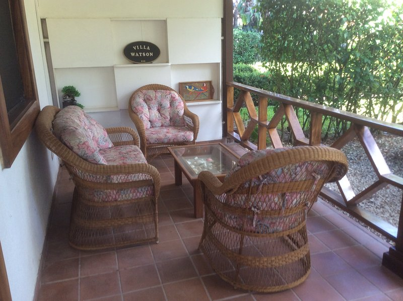 Sitting area in front porch