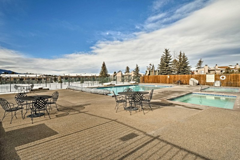 Take a dip in the community heated pool year around!