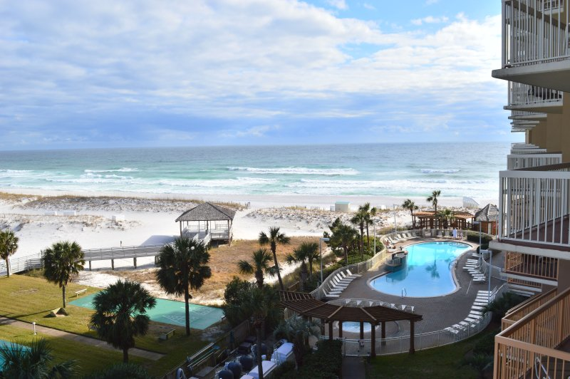 Balcony View of the Pool & Gulf!