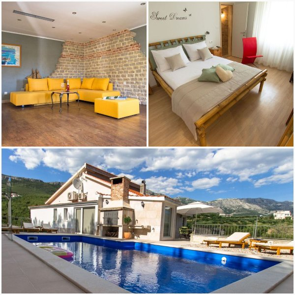 NEW!!! Villa Amore Split with private pool, gym, fun zone, garage..., holiday rental in Kucine