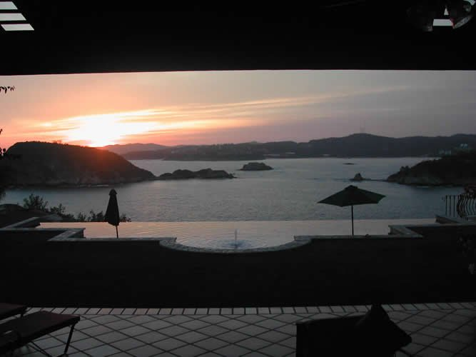Typical Huatulco Sunset