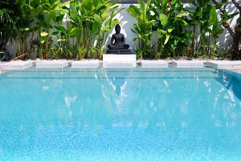 Gran piscina privada de tamaño