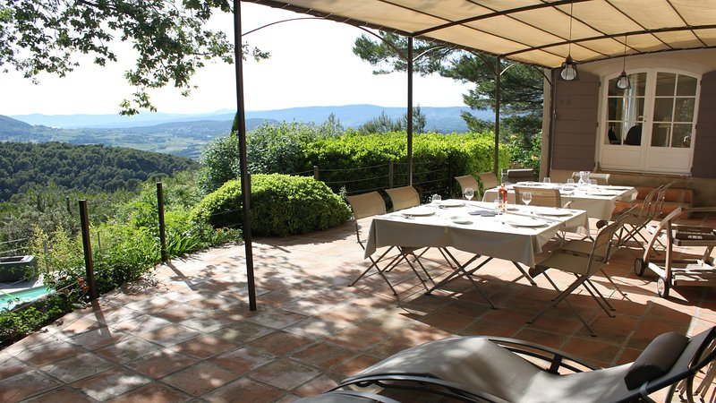 A large terrace will quickly become a special place for your meals ...
