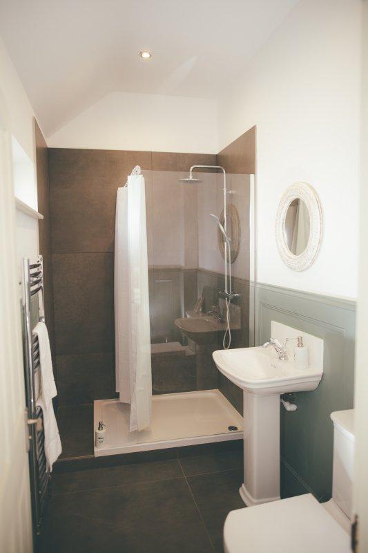 De badkamer in onze mooie studio, Matilda