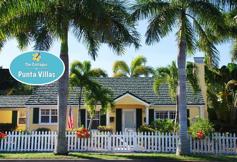 The Pineapple Cottage gelegen in het historische centrum Punta Gorda