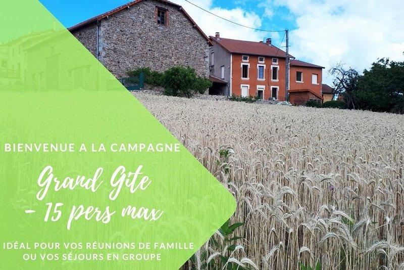 Grand Gite La Maison d'Alice, holiday rental in Saint Bonnet des Quarts