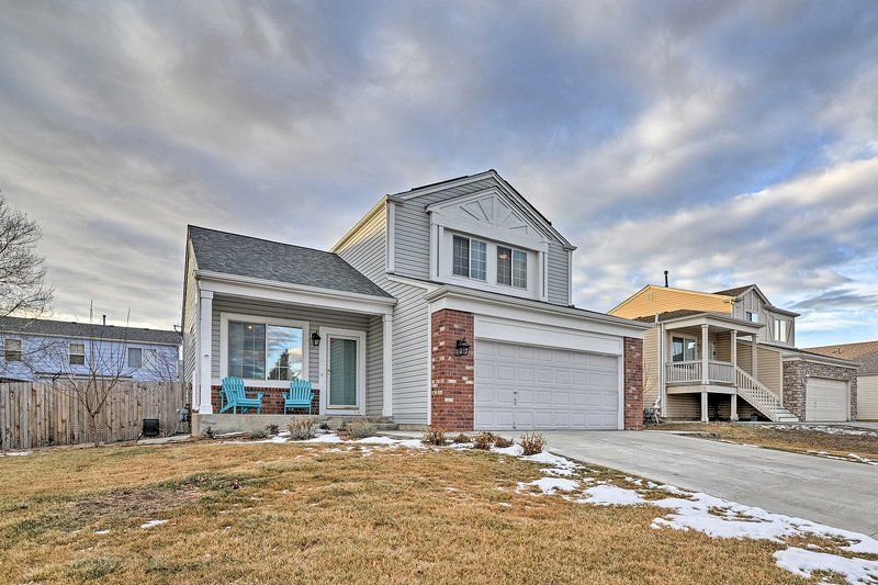 Experience the best of the Centennial State at this modern 3-bedroom, 2.5-bathroom vacation rental home in Aurora.