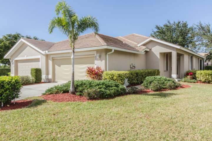 Beautiful Westminster attached villa, on desirable corner lot, could be your home away from home during your extended SW Florida vacation.