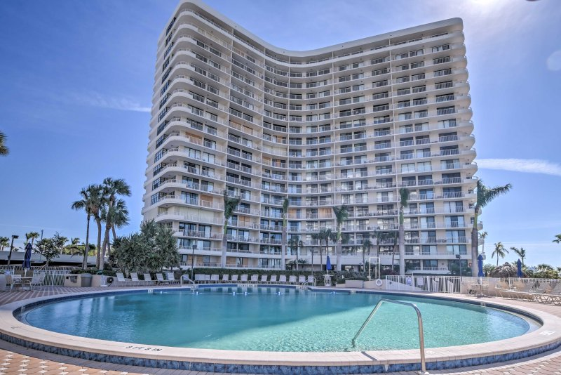 Discover your new favorite Marco Island retreat when you stay at this pristine 2-bedroom, 2-bathroom vacation rental condo.