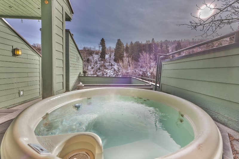 Hot Tub and Old Town Park City Views