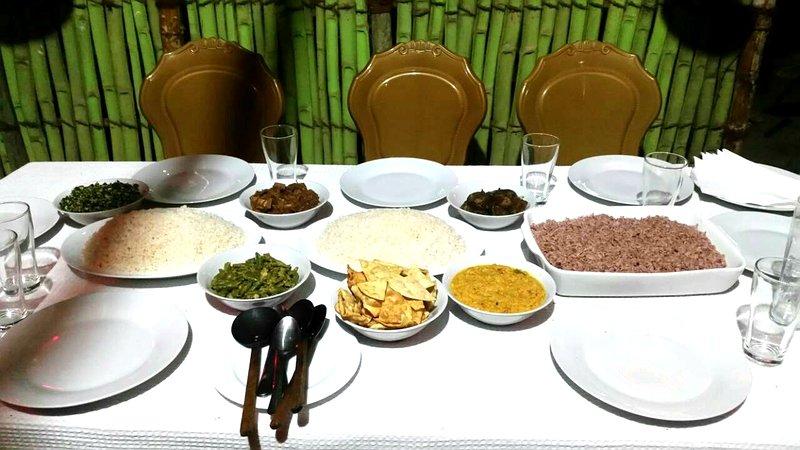 Traditional Sri Lankan dinner served in our restaurant