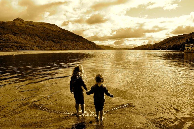 Remando em Loch Lomond