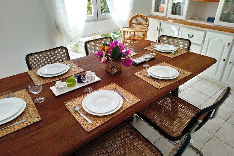 A sala de jantar