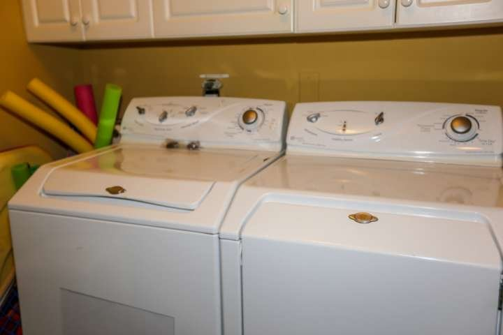 You'll find a full sized washer & dryer in the condo.