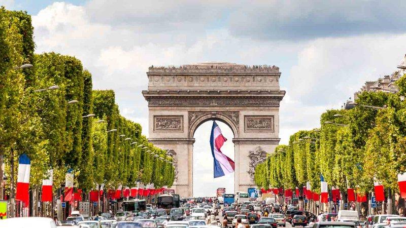 Champs Elysees Arc de Triomphe 50 mins by walk