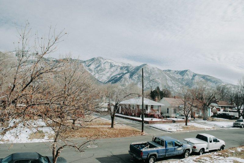 View of Mount Ogden from Breakfast Nook.