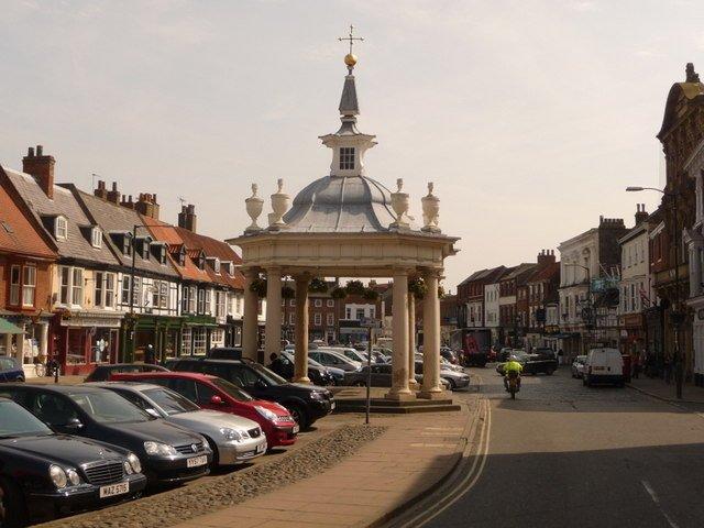 The pretty, busy town centre