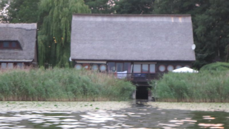 Boat garage with overlying Terrace