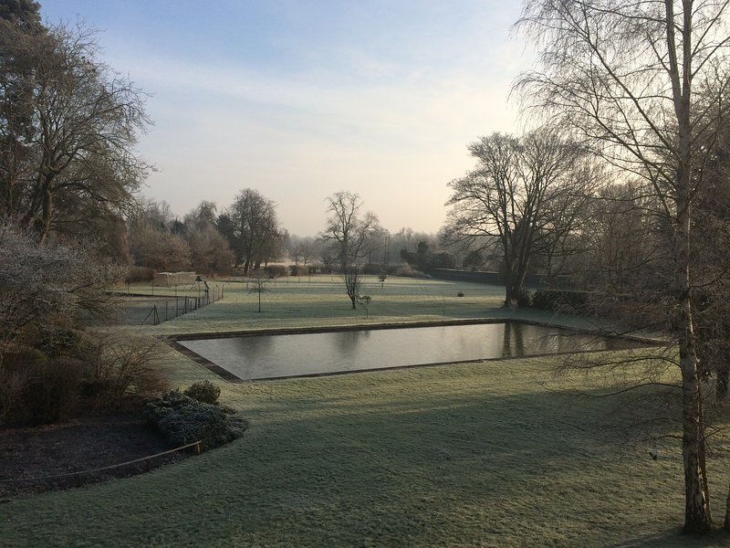 Eastfield House - frosted gardens
