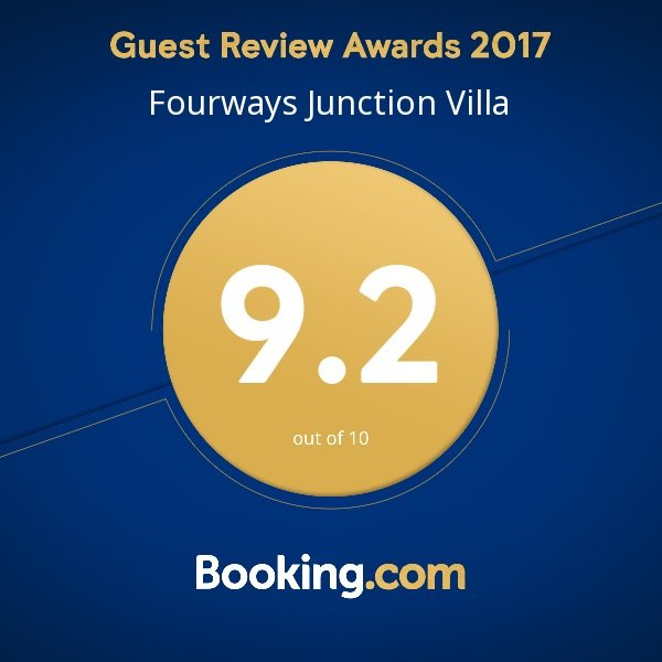 Awarded 9.2 out of 10 by booking,com clients in 2017.. We try harder..Join our satisfied clients