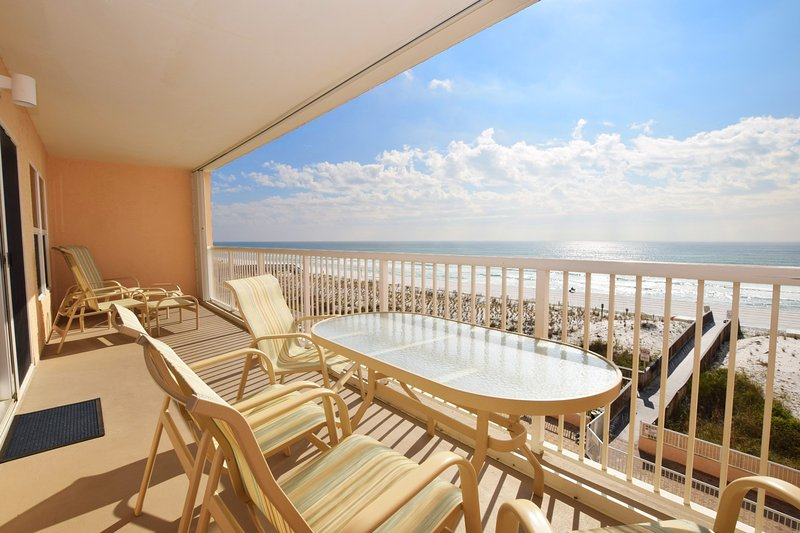 Balcony Islander Beach 4009 Fort Walton Beach Okaloosa Island Vacation Rentals