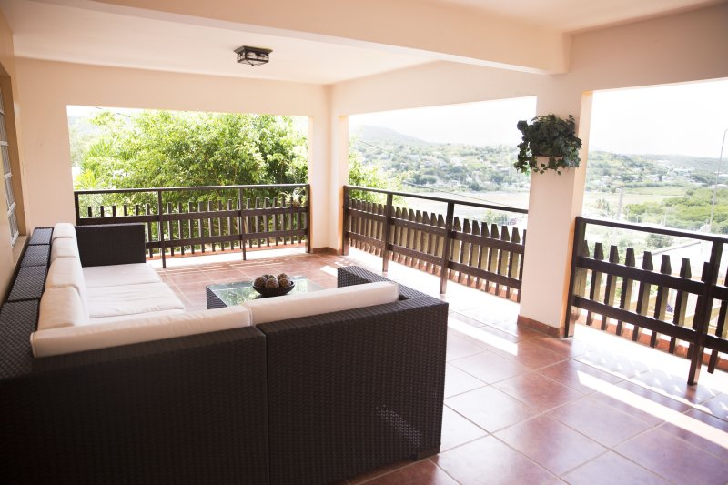 Balcony lounge with bay view