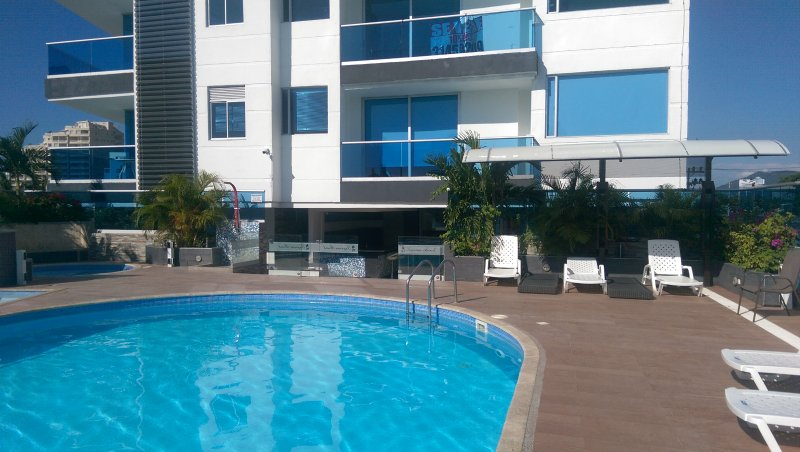 Enjoy the endless pool a few meters from the beach