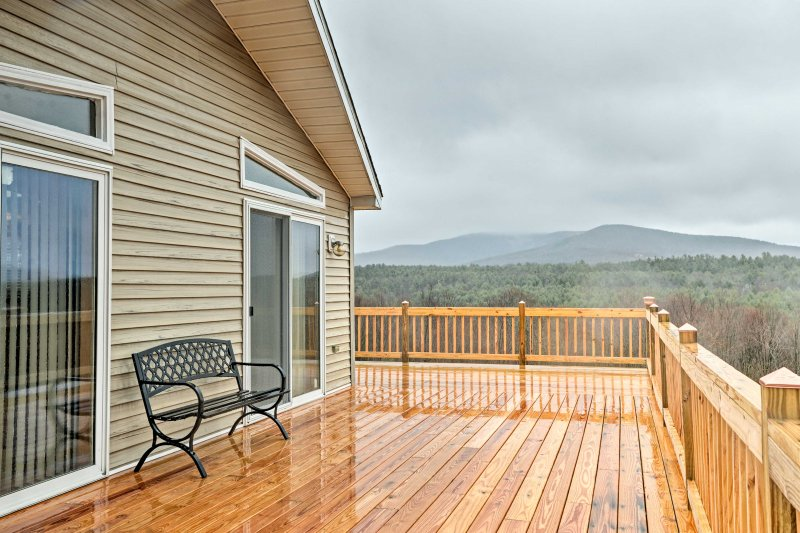 Experience the Catskill Mountains in all their glory from 'Dolly Chalet.'