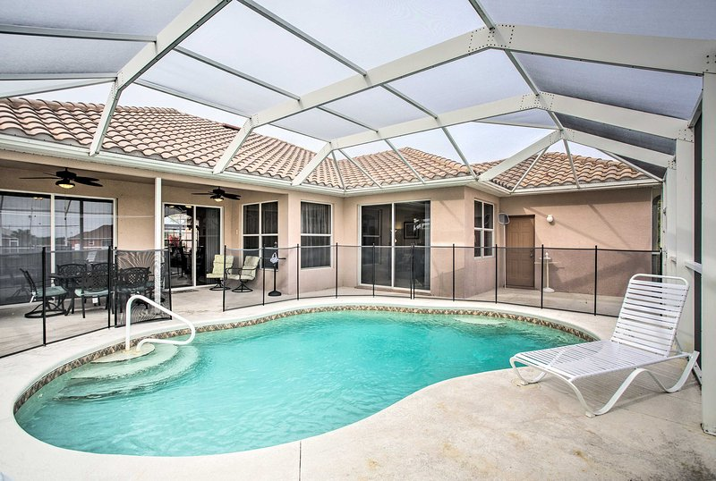Have a little fun in the sun when you stay at this 4-bedroom, 3-bathroom vacation rental home in Cape Coral!