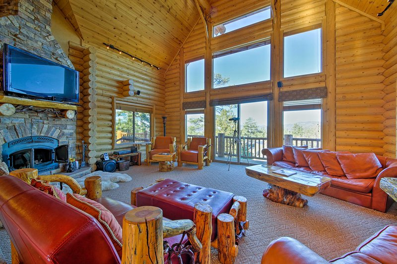 Stay at this 4-bedroom, 3.5-bathroom vacation rental house in Big Bear Lake for an epic mountainside retreat!